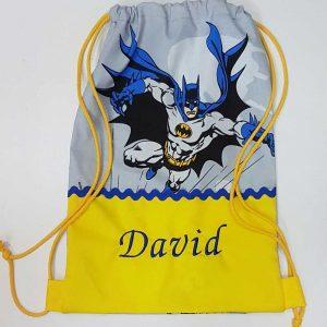 Bolsa Mochila Saco Cole Batman Personalizado