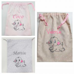 Bolsa Bebé Elefante Artesanal Personalizada