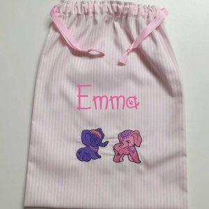 Bolsa Bebé Elefantitos Artesanal Personalizada