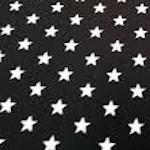 Estrellas Blancas Negro