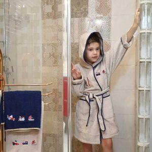 Albornoz Infantil Personalizado Marrón