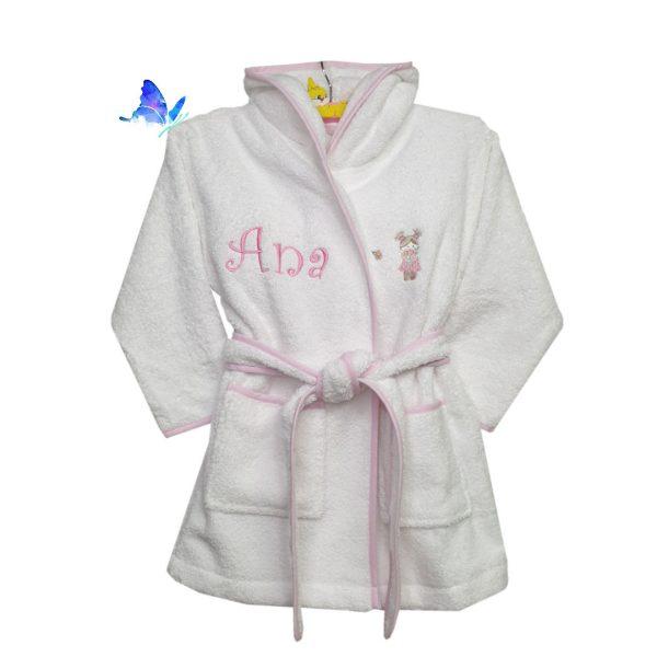 Albornoz Personalizado para Bebé Rosa Suzy