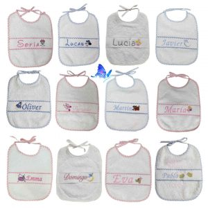 Baberos Personalizados Bordados Bebé