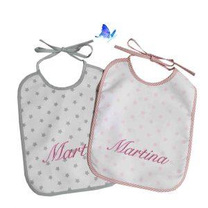 Baberos Personalizados Estrellas Bebé