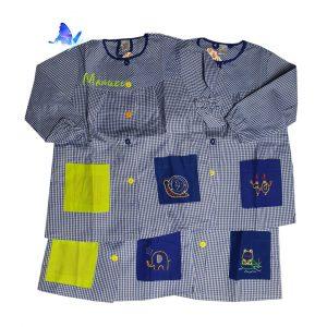 Baby Bata para Cole Personalizado Azul Botones de Colores
