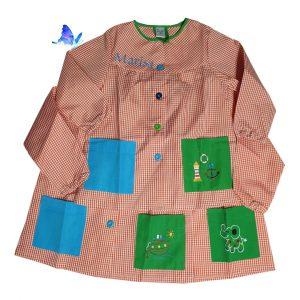Baby Bata para Cole Personalizado Naranja Botones de Colores