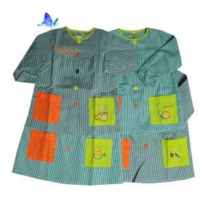 Baby Bata para Cole Personalizado Verde Botones de Colores