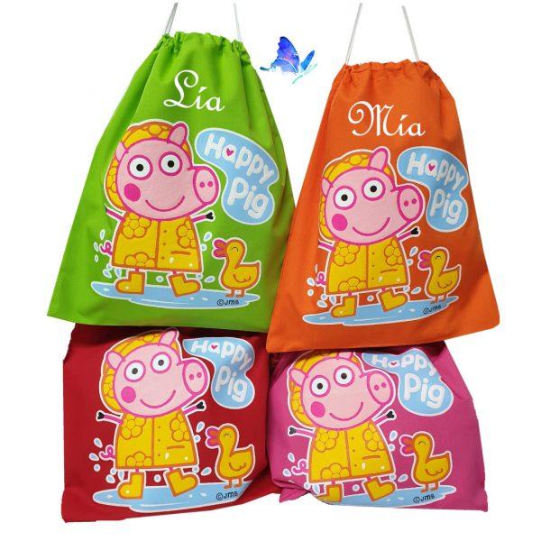 Bolsa para Merienda Personalizada Peppa Pig