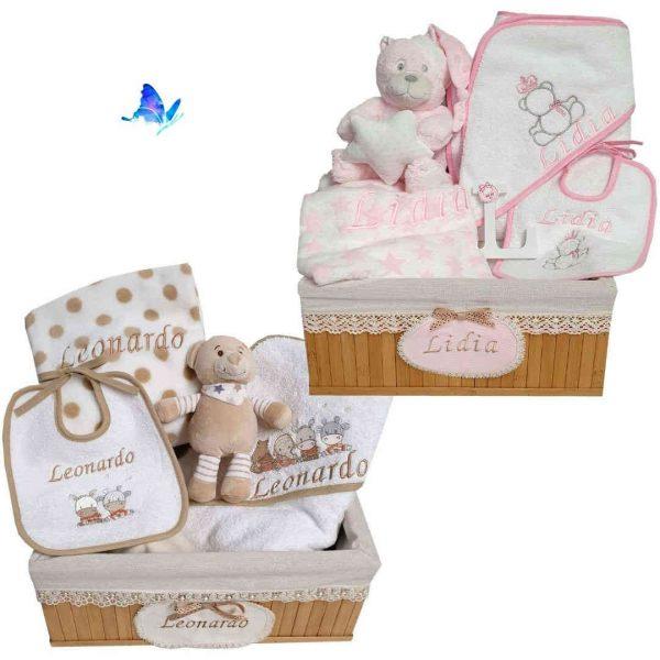 Canastilla Bebé Personalizada Caja de Bambú
