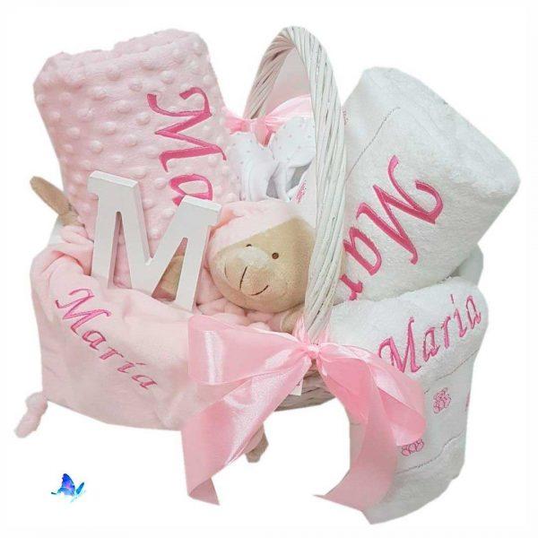 Canastilla Bebé Personalizada Dou-dou Manta Toallas