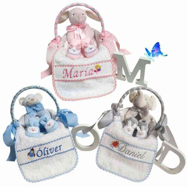 Cesta Bebé Personalizada Pequeña