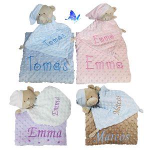 Manta y Doudou Bebé Personalizados