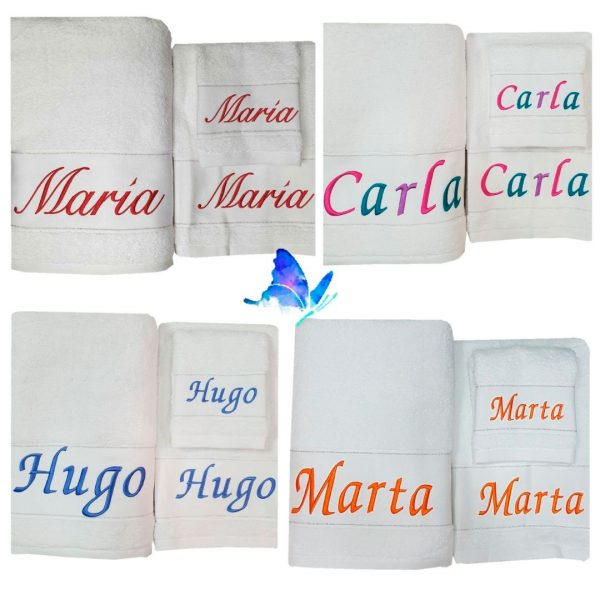 Toallas Blancas Personalizadas Variadas