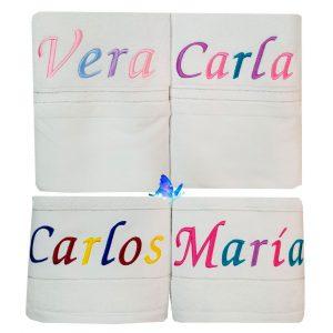 Toallas Personalizadas Blancas Medidas Variadas