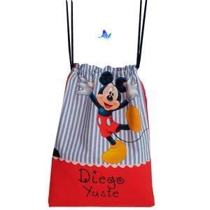 Mochila o Macuto Cole Personalizado Mickey