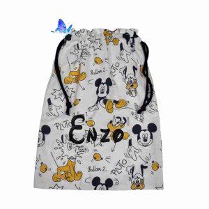 Bolsa Merienda Personalizada Mickey y Pluto