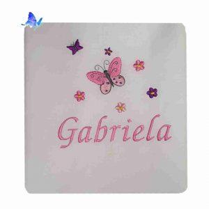 Sábana guardería personalizada Mariposas
